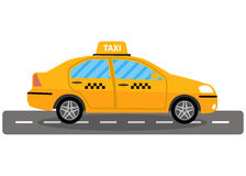 Taxi car on white background Stock Image
