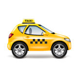 Taxi car  on white vector Stock Image