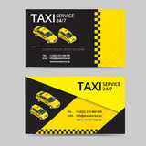 Taxi card for taxi-drivers. Taxi service. Vector business card template. Company, brand, branding, identity, logotype Stock Images