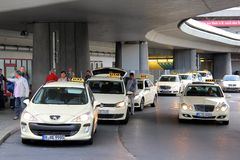 Taxi cars in Berlin Stock Images