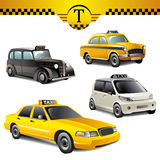 Taxi cars Royalty Free Stock Photo