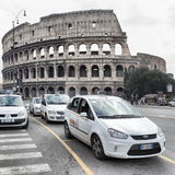 Taxi cars in Rome Royalty Free Stock Photography