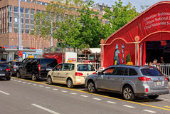 Taxi cars in Zurich, Switzerland Royalty Free Stock Photo