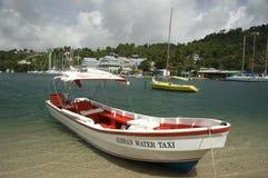 Taxi Castries St Lucia del agua imágenes de archivo libres de regalías