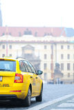 Taxi in a center of Prague Royalty Free Stock Photo