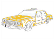 Taxi Chevrolet Royalty Free Stock Images