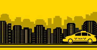 Taxi city background Royalty Free Stock Photo