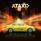 Taxi On City Background Royalty Free Stock Images