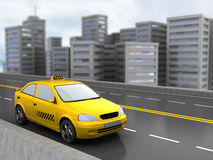 Taxi and city Stock Image