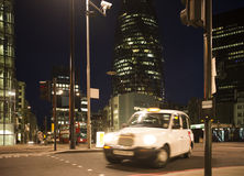 Taxi in City of London Stock Photography