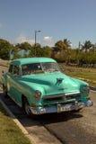Taxi classico cubano verde della menta Fotografia Stock Libera da Diritti