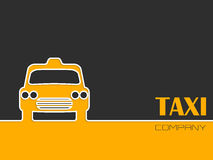 Taxi company advertising with taxi cab Stock Image