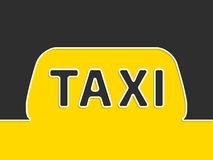 Taxi company advertising with taxi sign Royalty Free Stock Image