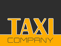 Taxi company background with taxi text Stock Photos