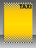 Taxi company brochure design Stock Photo