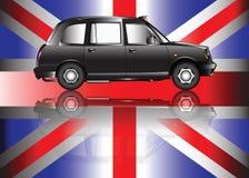 Taxi contemporaneo di Londra Immagini Stock