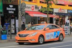 Taxi coreano Seoul Corea del Sud fotografia stock libera da diritti