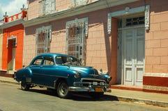 Taxi in Cuba. Chevrolet-Taxi in Cienfuegos, Cuba stock photos