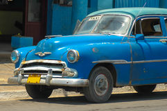 Taxi in Cuba. Chevrolet deluxe in Cuba used as a taxi royalty free stock photos
