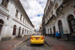 Taxi in Cuenca Ecuador Stock Photo
