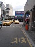 Taxi czekania teren blisko Chiayi Stacyjny inTaiwan obrazy stock