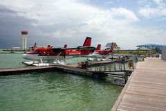 Taxi d'air maldivien Photographie stock libre de droits