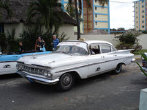 Taxi d'annata dell'automobile in Havana Cuba Fotografie Stock Libere da Diritti
