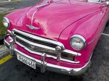 Taxi d'annata rosa Fotografia Stock