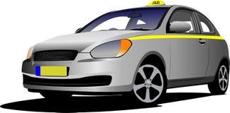Taxi d'isolement par vecteur Photographie stock libre de droits