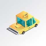 Taxi 3d isométrique plat Photographie stock libre de droits
