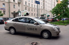 Taxi d'Uber Images libres de droits