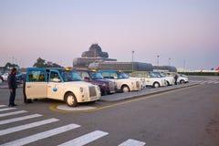 Taxi dans l'aéroport à Bakou Image stock