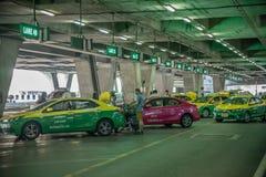 Taxi dans l'aéroport de Bangkok, Thaïlande Image libre de droits