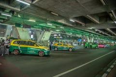 Taxi dans l'aéroport de Bangkok, Thaïlande Images libres de droits