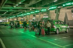Taxi dans l'aéroport de Bangkok, Thaïlande Image stock