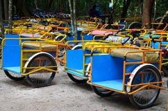 Taxi de Bici en Coba, México Foto de archivo