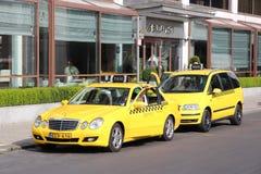 Taxi de Budapest Fotos de archivo libres de regalías