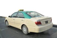 Taxi de Duabi sur la route Photographie stock