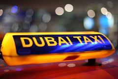 Taxi de Dubai Foto de archivo