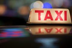 Taxi de Hong-Kong Foto de archivo libre de regalías