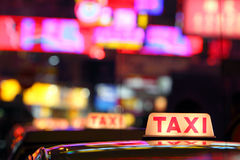 taxi de Hong Kong Photos stock