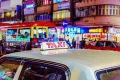 taxi de Hong Kong Images stock