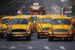 Taxi de Kolkata Imágenes de archivo libres de regalías