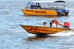 Taxi de l'eau au Brunei image libre de droits