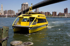 Taxi de l'eau de NYC Images stock