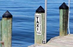 Taxi de l'eau pour la location Photo libre de droits