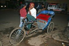 Taxi de la bicicleta en Delhi vieja Fotografía de archivo libre de regalías