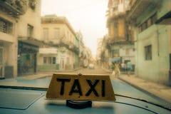 Taxi de La Havane Image libre de droits