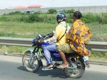 Taxi de la motocicleta en Benin Imágenes de archivo libres de regalías