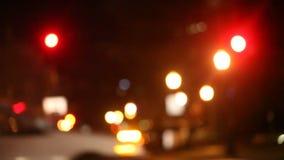 Taxi de la noche almacen de metraje de vídeo